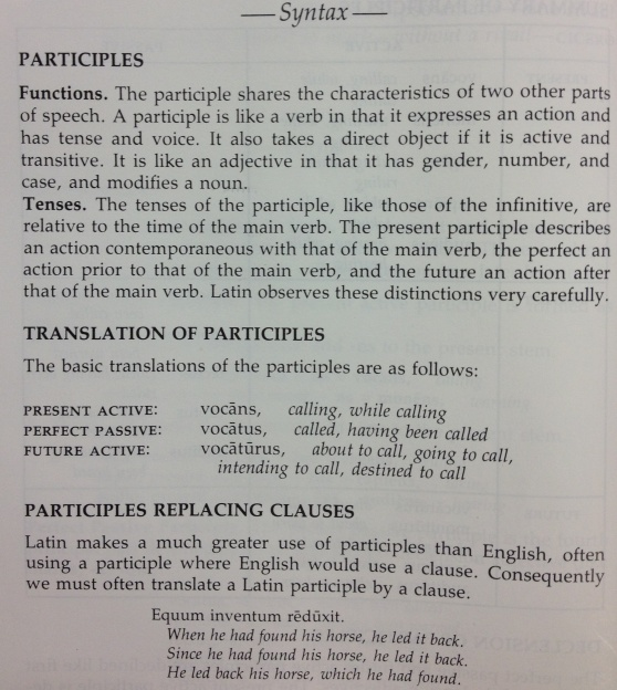 Function and Tense of participles